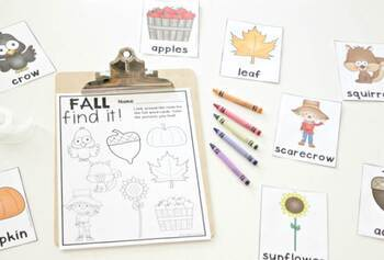 """""""Find It"""" Writing Centers for Pre-K and Kindergarten"""