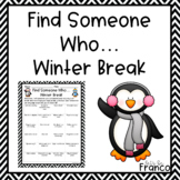 """""""Find Someone Who"""" - Return from winter break activity"""