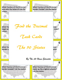 """Find the Fraction"" Task Cards (The 50 States)"