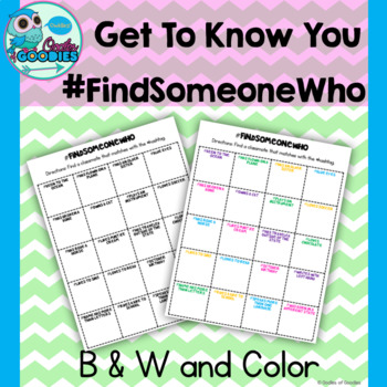#FindSomeoneWho - Get to Know You
