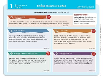 """""""Finding Features on a Map"""" Year 1 Card 1 Australian Geography Centre"""