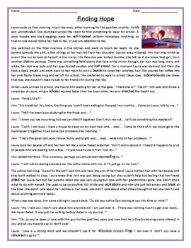 """""""Finding Hope"""" - Reading Comprehension / Story"""