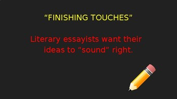"""""""Finishing Touches"""" Editing Writing Lesson (PowerPoint)"""