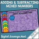 Adding & Subtracting Mixed Numbers Digital Scavenger Hunt
