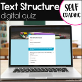 Text Structure Quiz Digital - Text Structure Test  eLearning