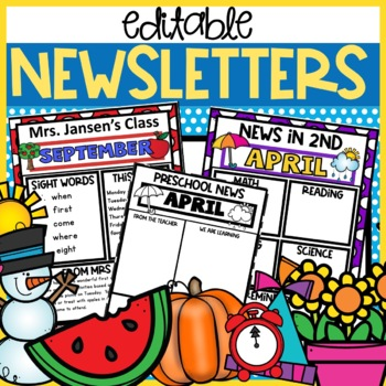 Newsletter Template Editable weekly monthly