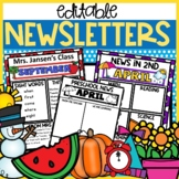 Newsletter Template editable monthly weekly