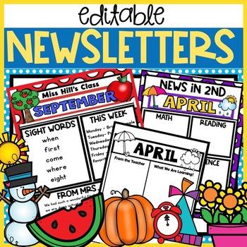 4th Grade Newsletter Template Teaching Resources Teachers Pay Teachers