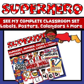 Superhero Alphabet Posters