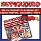 Superhero Number Number Posters
