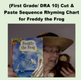 (First Grade/ DRA 10) Cut & Paste Sequence Rhyming Chart f