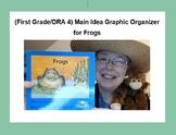 (First Grade/DRA 4) Main Idea Graphic Organizer for Frogs