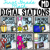 ****First Grade Digital Math Stations MD***