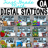 ****First Grade Digital Math Stations OA***