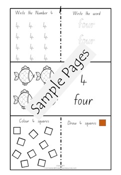Number work 1-10 (With Answer sheets)