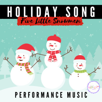 'Five Little Monkeys' Christmas Song for Pre-k / Kindergarten - MP3 included!