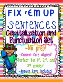 """Fix 'Em Up"" Sentences to edit/correct! *CAPITALIZATION & PUNCTUATION SET 1*"