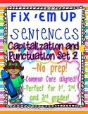 """Fix 'Em Up"" Sentences to edit/correct! *CAPITALIZATION & PUNCTUATION SET 2*"