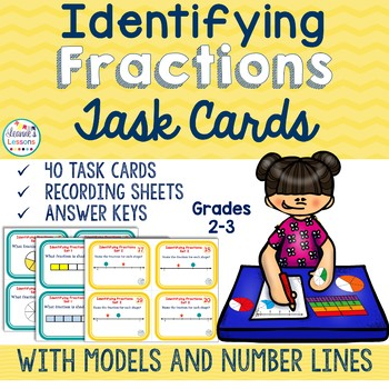 Fractions Task Cards: Identifying Fractions