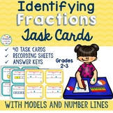Fractions Task Cards:Identifying Fractions