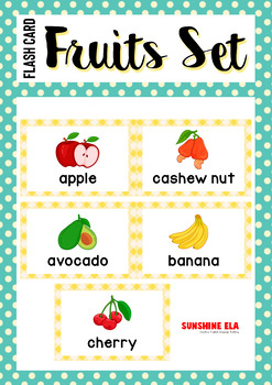{Flash Cards} Fruits Set - 35 items