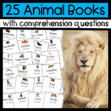 25 Animal Books: Main Topic/ Key Details & Comprehension Questions!