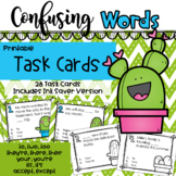 Homophones: Confusing Words Printable Task Cards or TpT Di