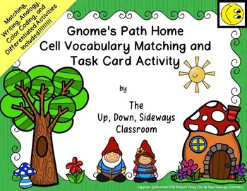 Gnome's Path Home Introduction to Cells Matching and Task Card Activity