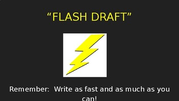 """""""Flash Draft"""" Personal Narrative Writing Lesson (PowerPoint)"""