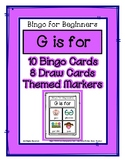 Bingo for Beginners ~ Preschool ~ Focus Letter G Sound