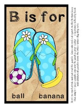 Teaching by the Letter - Flip Flops theme - Focus Letter B