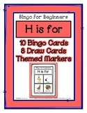 Bingo for Beginners ~ Preschool ~ Focus Letter H Sound