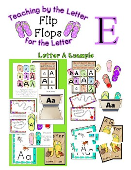 Teaching by the Letter - Flip Flops theme for Letter E