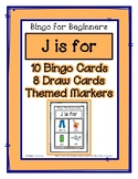 Bingo for Beginners ~ Preschool ~ Focus Letter J Sound