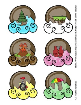 Ice Cream Letter and Beginning Sound Pictures