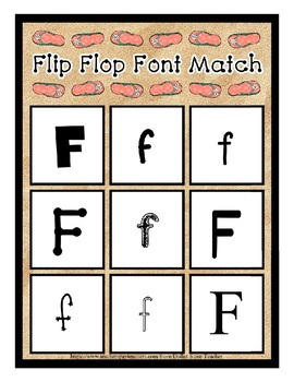 Teaching by the Letter - Flip Flops theme for Letter F