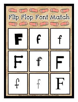 Teaching by the Letter - Flip Flops theme for Letter F