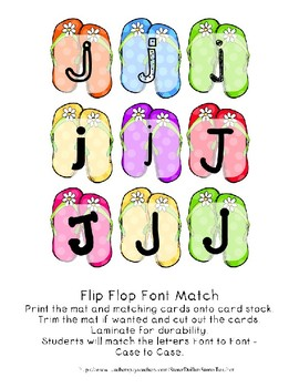 Teaching by the Letter - Flip Flops theme for Letter J