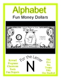 Fun Money Dollars by the letter ~ Letter N ~ Drama & Math Centers