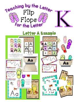 Teaching by the Letter - Flip Flops theme for Letter K