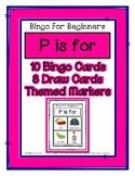 Bingo for Beginners ~ Preschool ~ Focus Letter P Sound