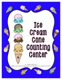Ice Cream Sugar Cone Counting Scoops 0 to 24