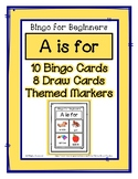 Bingo for Beginners ~ Preschool ~ Focus Letter A Sound
