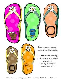 Teaching by the Letter - Flip Flops theme for Letter O