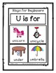 Bingo for Beginners ~ Preschool ~ Focus Letter U Sound