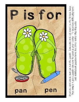 Teaching by the Letter - Flip Flops theme for Letter P