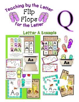 Teaching by the Letter - Flip Flops theme for Letter Q