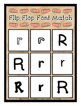 Teaching by the Letter - Flip Flops theme for Letter R