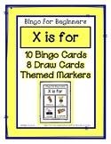 Bingo for Beginners ~ Preschool ~ Focus Letter X Sound