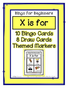Bingo for Beginners ~ Preschool ~ Focus Letter X Sound